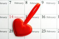 Coração o 14 de fevereiro Fotografia de Stock