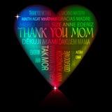 Coração - obrigado serir de mãe Imagens de Stock