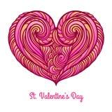 Coração ondulado abstrato Fotografia de Stock Royalty Free