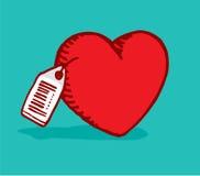 Coração ou amor para a venda Imagens de Stock