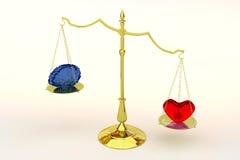 Coração ou mente Fotografia de Stock Royalty Free