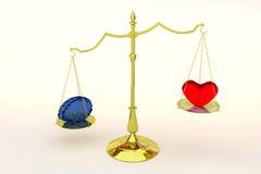 Coração ou mente Fotos de Stock Royalty Free