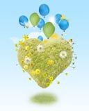 Coração pairando ilustração do vetor