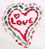 Coração para o dia do Valentim Fotografia de Stock