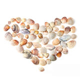 Coração para o dia do Valentim dos escudos da cor Foto de Stock