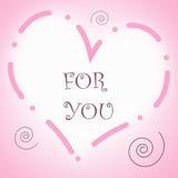 Coração para você Foto de Stock