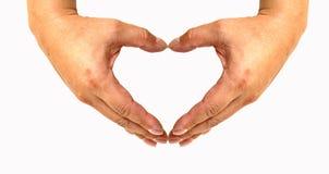 Coração pelas mãos Imagem de Stock Royalty Free