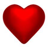 Coração perfeito do vermelho carmesim Imagens de Stock