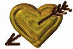 Coração perfurado ilustração stock