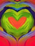 Coração pintado Imagens de Stock Royalty Free