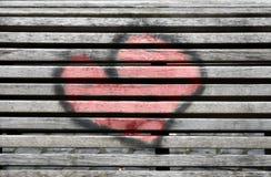 Coração pintado imagens de stock