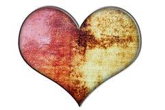 Coração pintado da lona ilustração stock
