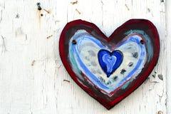 Coração pintado na parede foto de stock royalty free