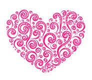 Coração pintado rosa do vetor Foto de Stock Royalty Free