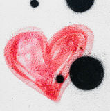 Coração pintado vermelho Imagens de Stock Royalty Free