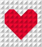 Coração poligonal vermelho Foto de Stock Royalty Free