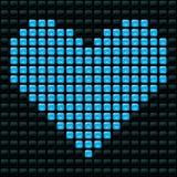 Coração pontilhado Fotografia de Stock
