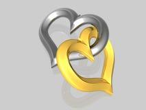Coração poucos - isolado - 3D ilustração do vetor