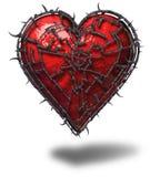 Coração prendido ilustração do vetor