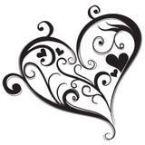 Coração preto abstrato ilustração royalty free