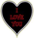 Coração preto com uma inscrição Fotografia de Stock