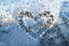 Coração preto e branco Imagens de Stock