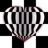 Coração preto e branco Fotos de Stock
