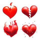 Coração quebrado Fotografia de Stock