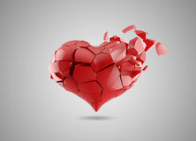 Coração quebrado Foto de Stock