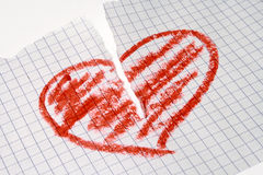 Coração quebrado Fotos de Stock