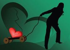 Coração quebrado Imagem de Stock