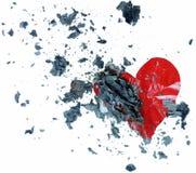 Coração quebrado ardente para você foto de stock royalty free