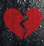 Coração quebrado conceptual Fotografia de Stock Royalty Free