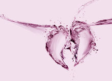 Coração quebrado da água Foto de Stock Royalty Free