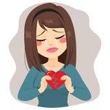 Coração quebrado da mulher ilustração do vetor