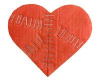 Coração quebrado do cartão Fotos de Stock Royalty Free