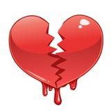 Coração quebrado e de sangramento Fotos de Stock
