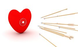 Coração quebrado - imagem conceptual ilustração royalty free