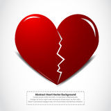 Coração quebrado vermelho Imagens de Stock Royalty Free