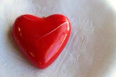 Coração quebrado, vermelho Fotografia de Stock