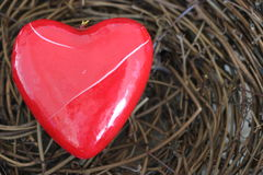 Coração quebrado, vermelho Imagem de Stock