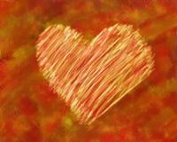 Coração rústico Fotos de Stock