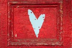 Coração rústico na porta Imagens de Stock Royalty Free