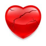 Coração rachado ilustração do vetor