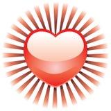 Coração radiante Ilustração Royalty Free