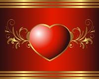 Coração real ilustração stock