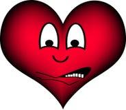 Coração receoso ilustração do vetor