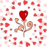 Coração romântico bonito Foto de Stock Royalty Free