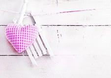 Coração romântico em placas nevado Imagens de Stock