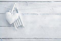 Coração romântico nas placas brancas Fotografia de Stock Royalty Free